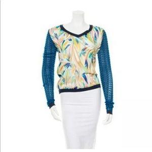 Missoni for Target Chiffon Sweater Mix Media Blue